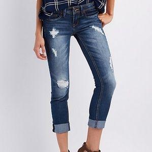 Dollhouse size 5 distressed crop jeans